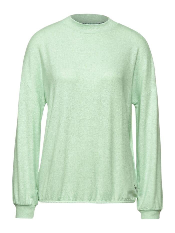 Street One Shirt mit Stehkragen, frosted pistachio melange