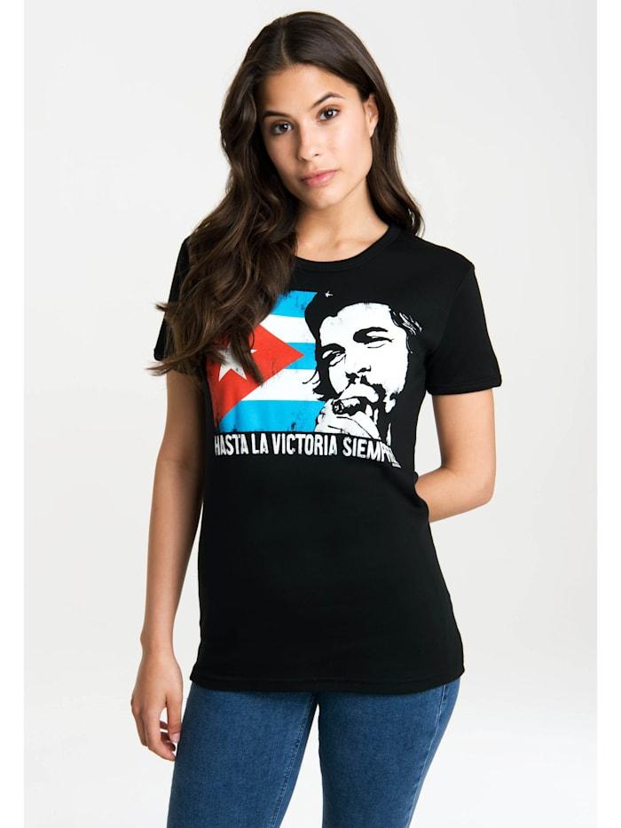 Logoshirt T-Shirt Che - Cuban Flag mit lizenziertem Originaldesign, schwarz