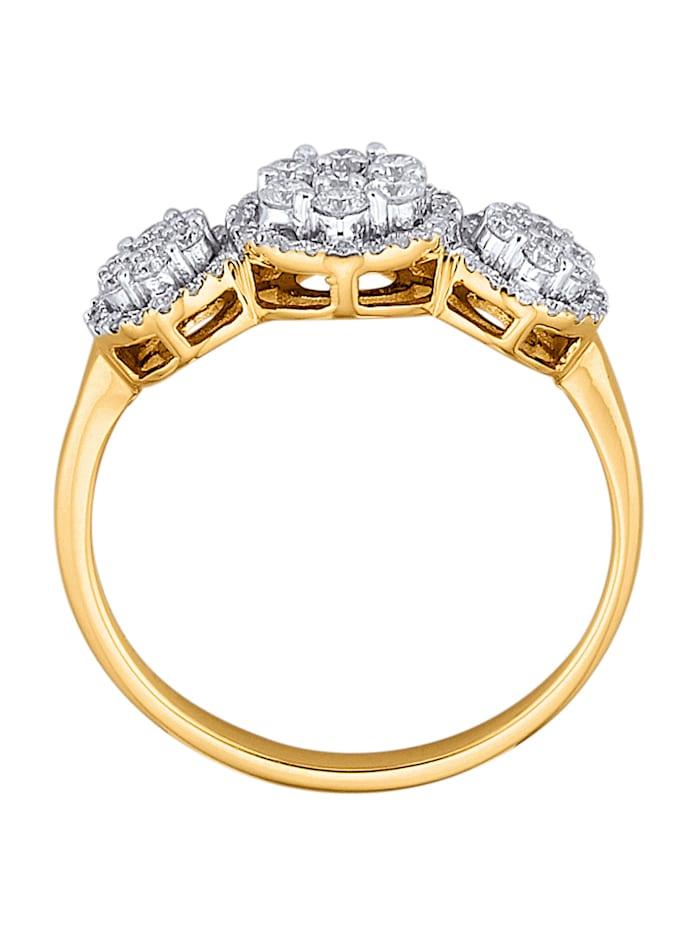 Bague avec brillants et diamants