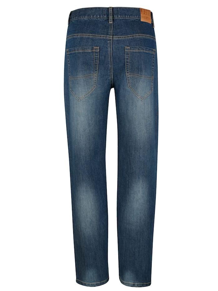 Jeans med extrafickor