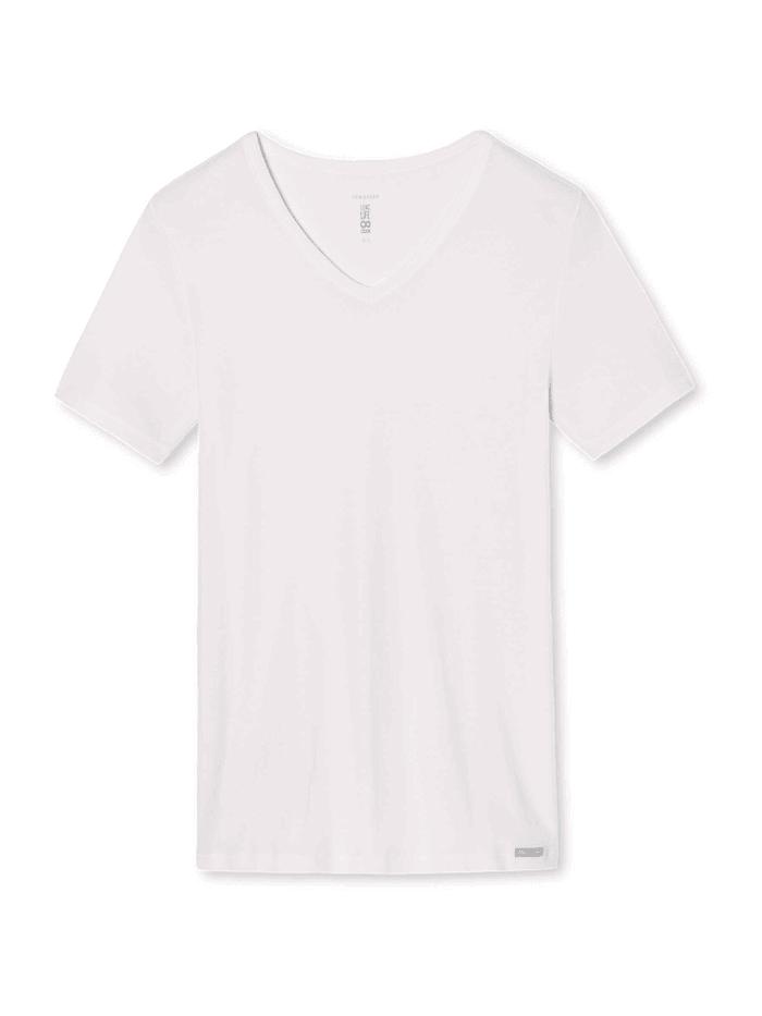 Schiesser Unterhemd mit V-Ausschnitt Ökotex zertifiziert, weiß