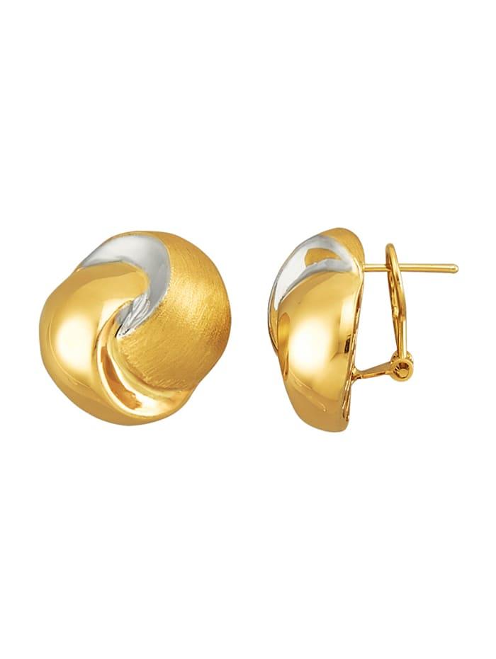 Diemer Gold Ohrstecker tricolor, Gelbgoldfarben