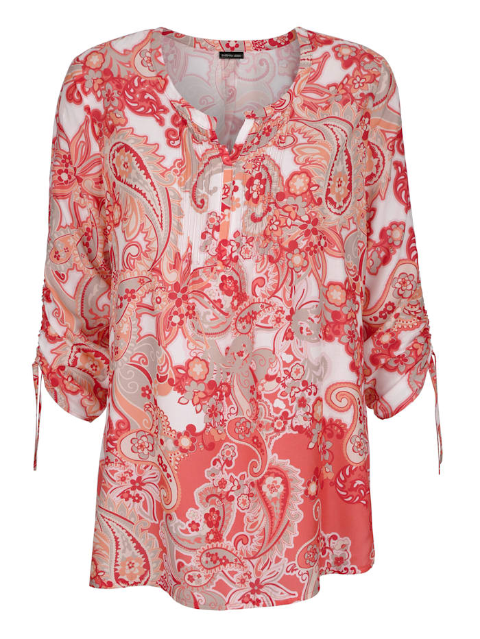Pull-on blouse in a paisley print