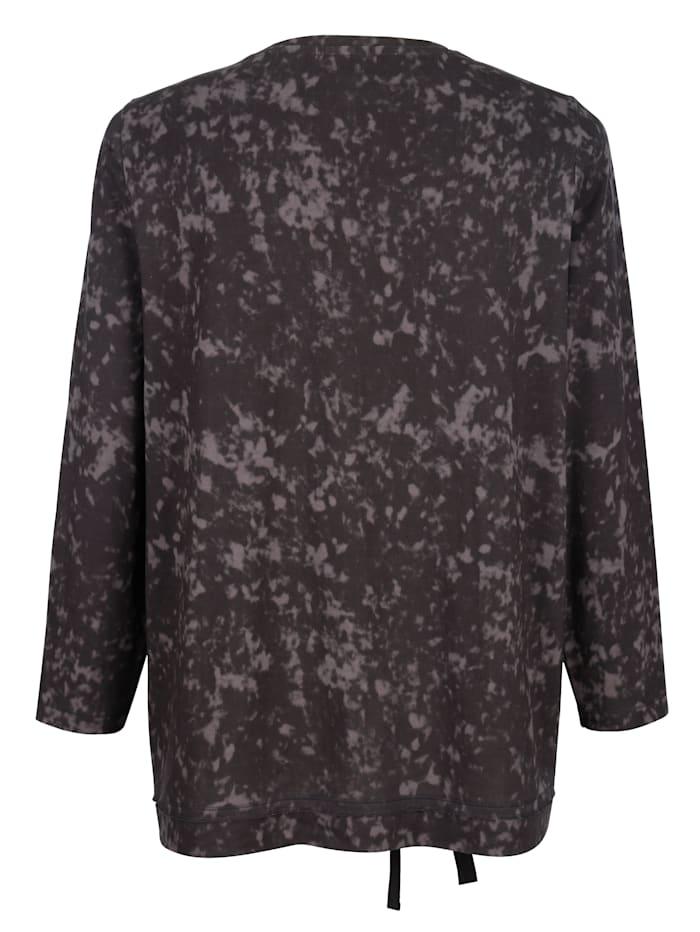 Sweatshirt mit Pailletten und Schnürungsdetails