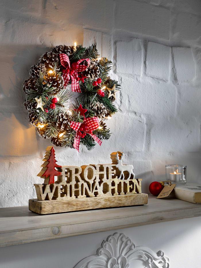 Décoration 'Frohe Weihnachten' (Joyeux Noël)