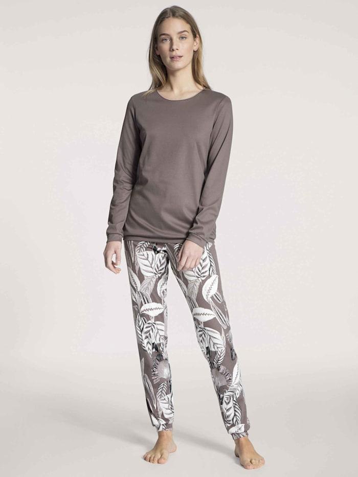 Calida Bündchen-Pyjama Ökotex zertifiziert, toasted taupe