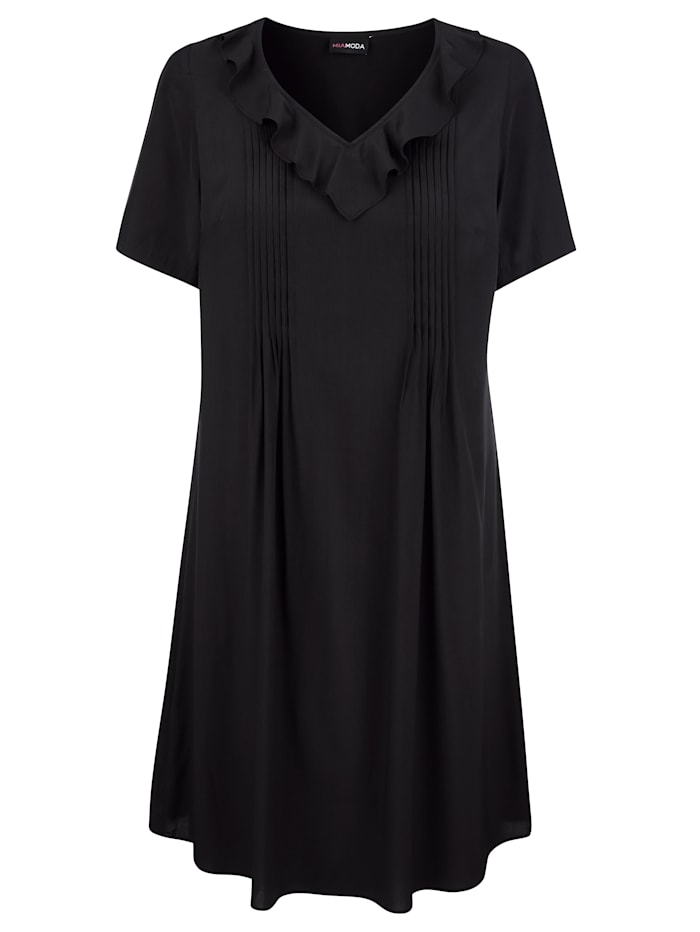Kleid mit Volants am Ausschnitt