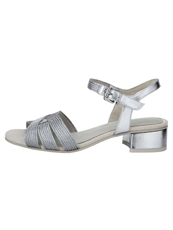 Sandale in Zierband-Optik