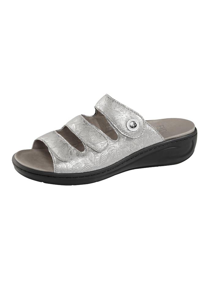 Fidelio Pantolette, Silberfarben