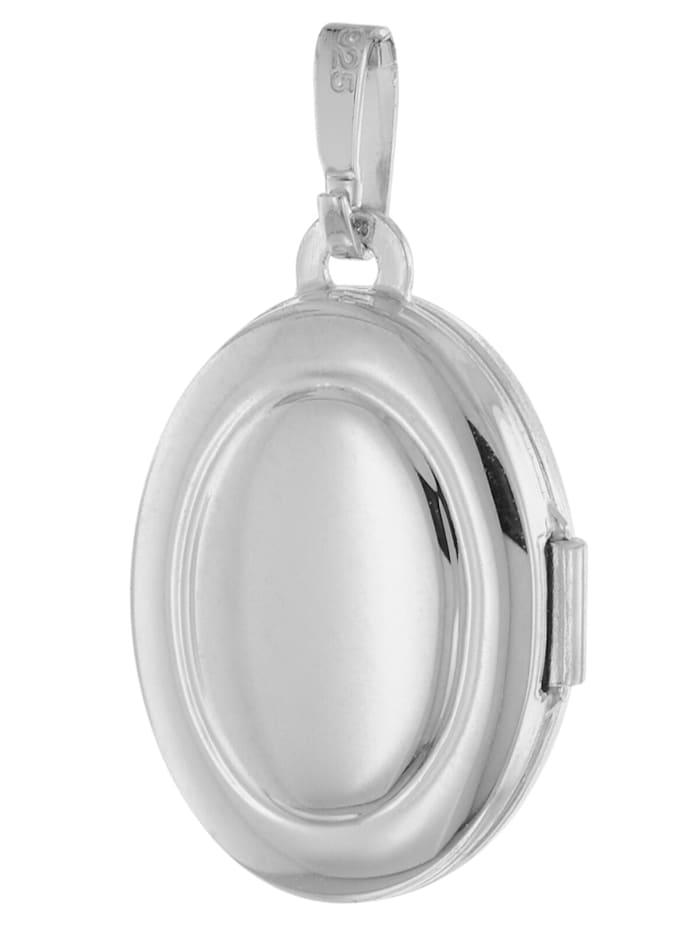 Medaillon mit Halskette für Damen Silber 925