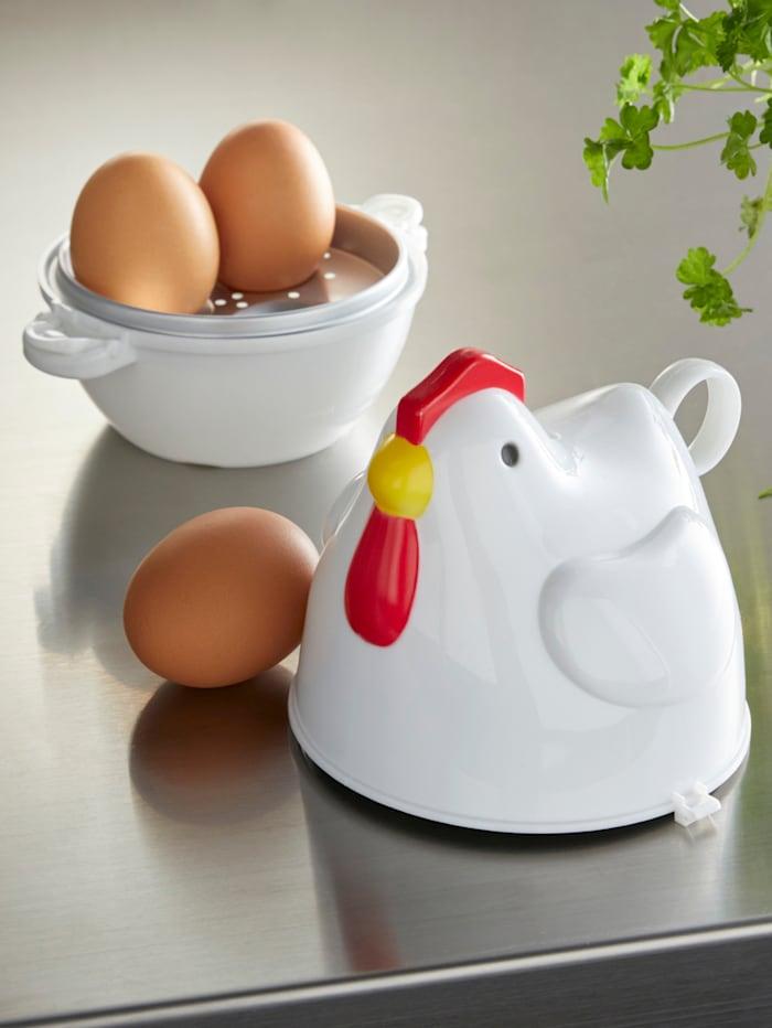 Äggkokare för mikrovågsugnen, vit