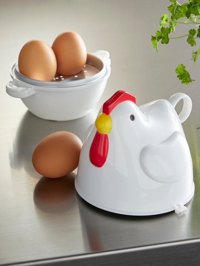 Mikrobølge-eggkoker Poule, hvit