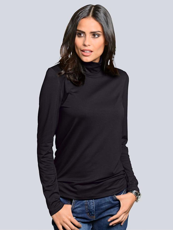 Alba Moda T-shirt à col roulé, Noir