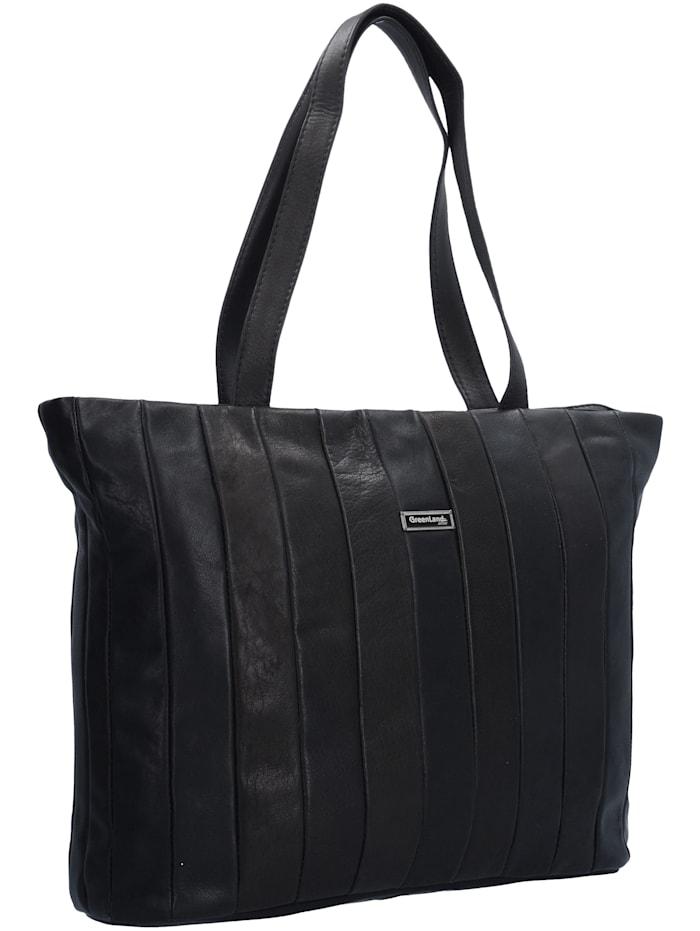 Black Nappa Shopper Tasche Leder 37 cm
