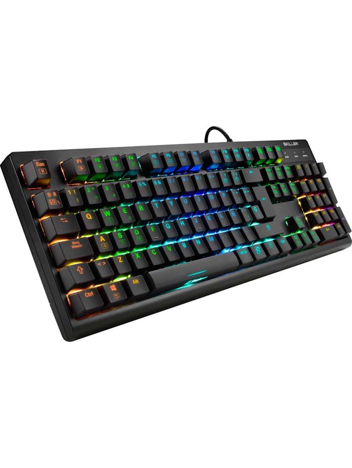 Sharkoon Gaming-Tastatur SKILLER SGK30 Blue, Schwarz