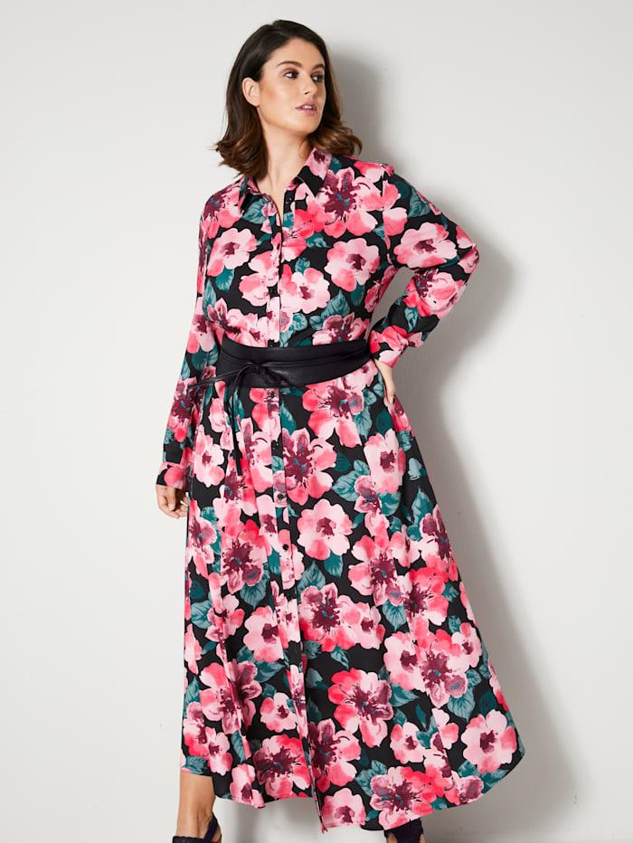 Maxi-jurk met doorknoopsluiting