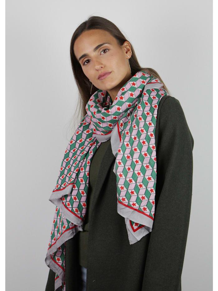 Viskose-Schal mit exklusivem Grafik-Print