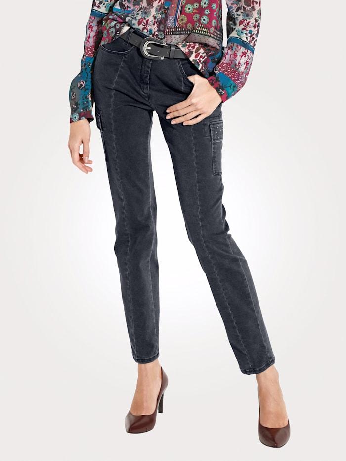 Pantalon cargo avec strass fantaisie