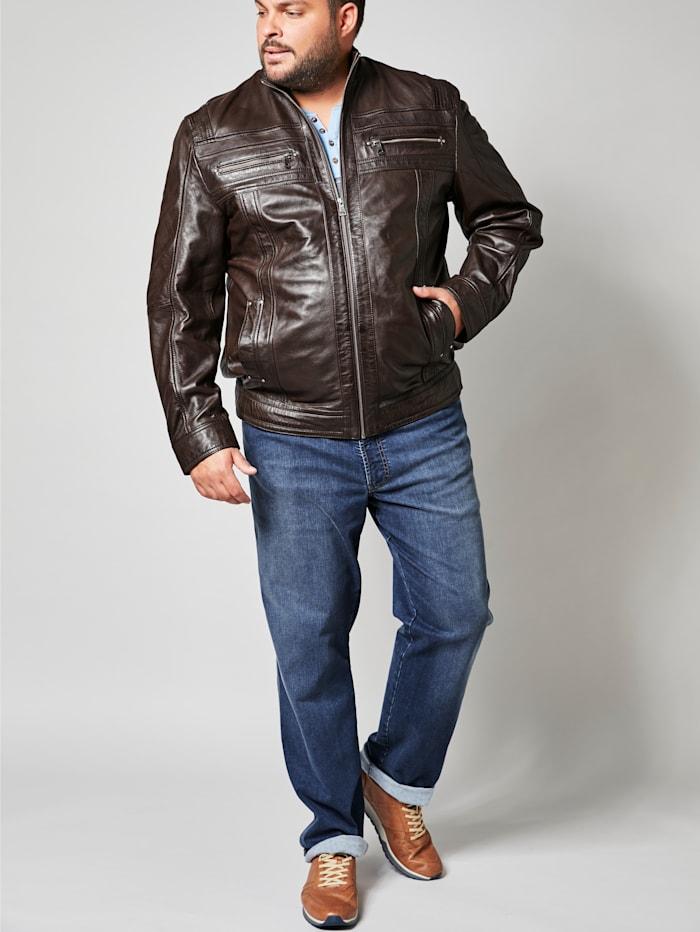 Men Plus Jeans in moderner Used-Optik, Blue stone