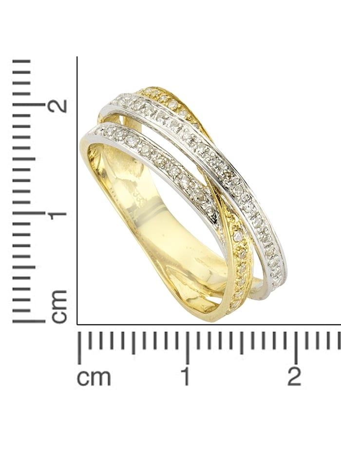 Ring 585/- Gold Diamant weiß Diamant Bicolor 0,24ct. 585/- Gold