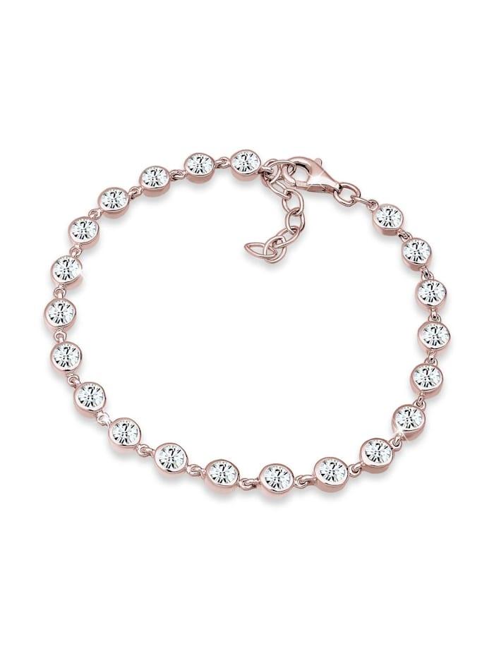 Elli Premium Armband Swarovski® Kristalle 925 Sterling Silber, Rosegold