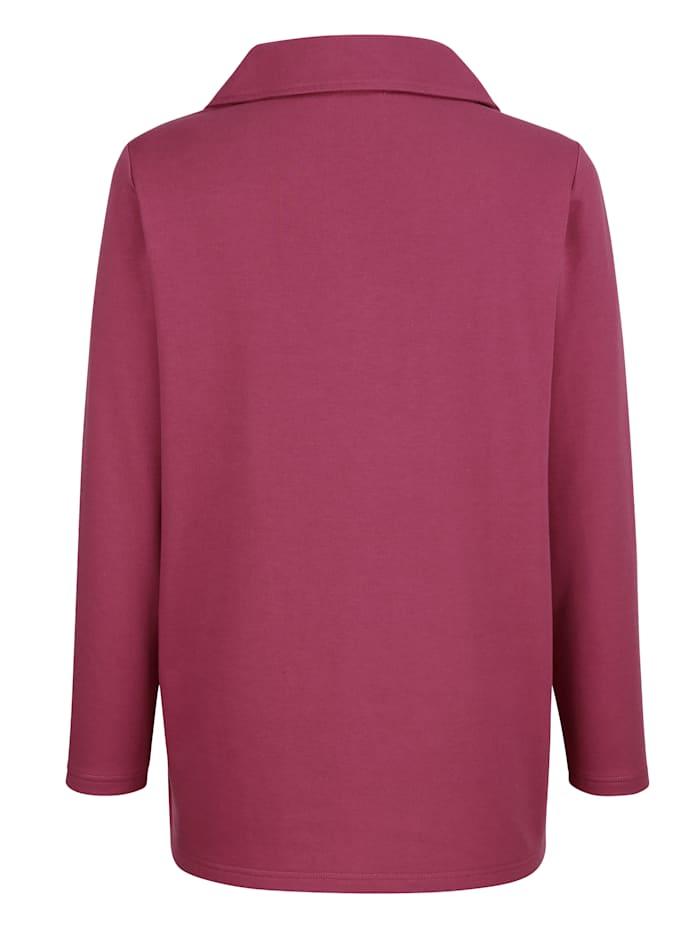 Sweatshirt med spets fram
