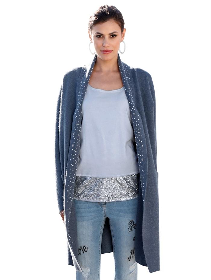 AMY VERMONT Vest met strassteentjes, Blauw