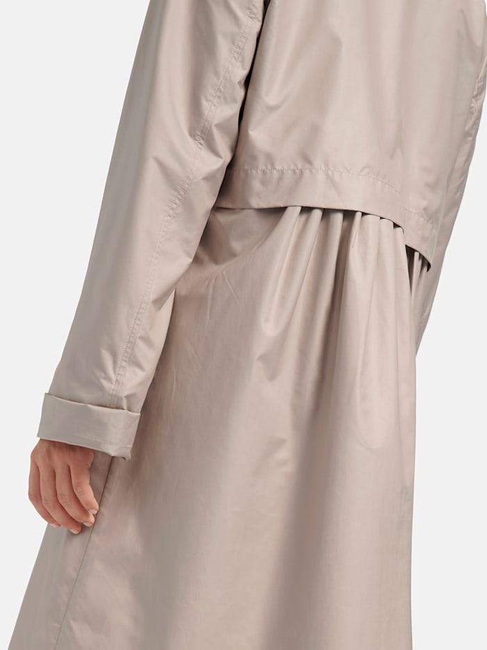 Pflegeleichter Mantel in Uni-Design