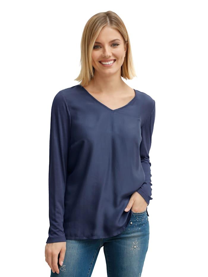 Shirt aus Seide mit Jersey