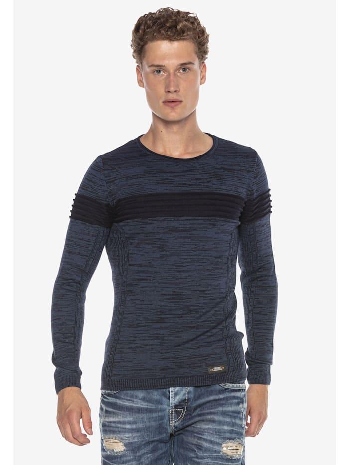 Cipo & Baxx Pullover im modernen Look, INDIGO