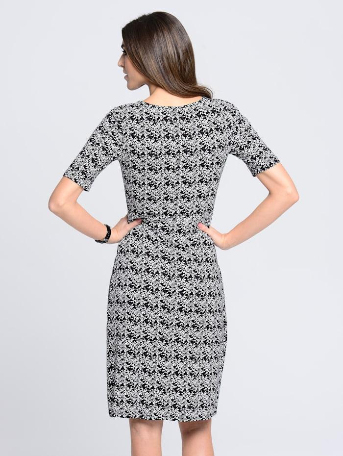 Kleid mit floralem Allover-Druck