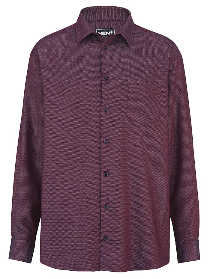 Men Plus Hemd aus reiner Baumwolle, beere/marine/hellg