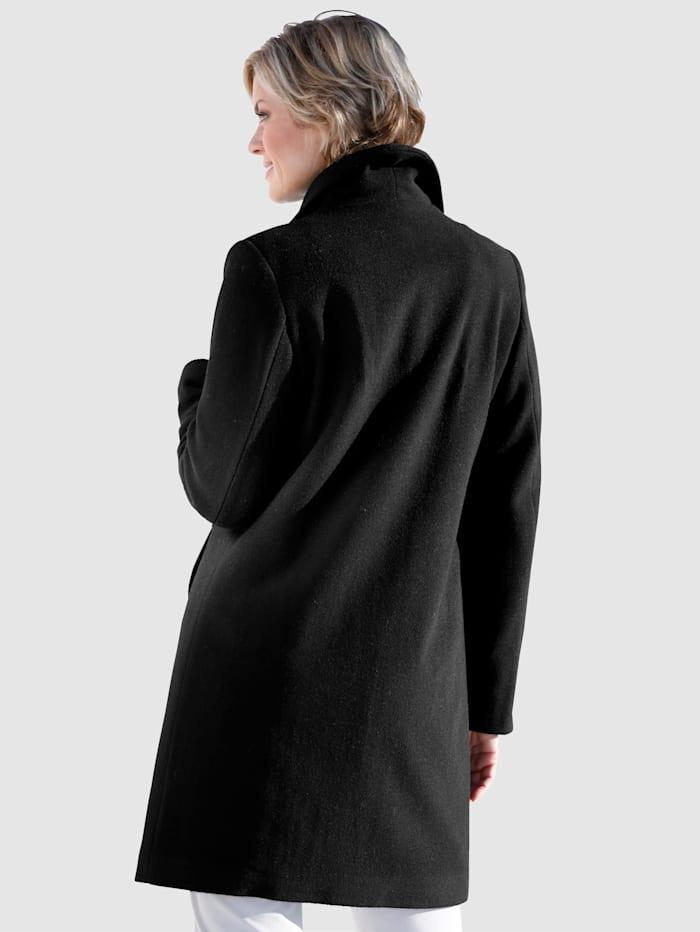 Manteau en laine mélangée à col châle