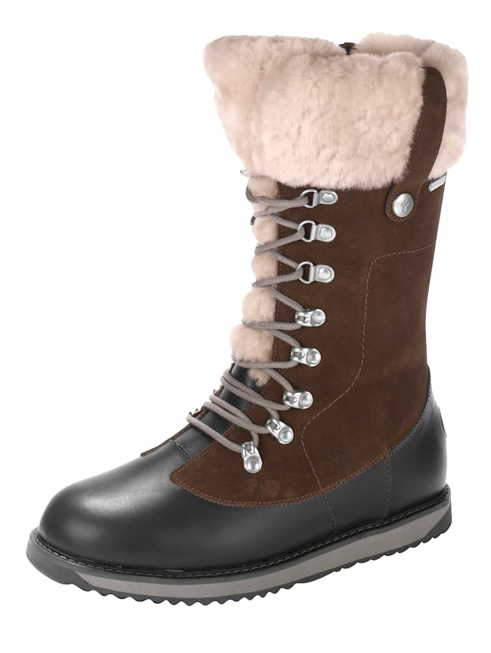 EMU Bottines hautes lacées Orica à membrane WATERPROOF, Marron