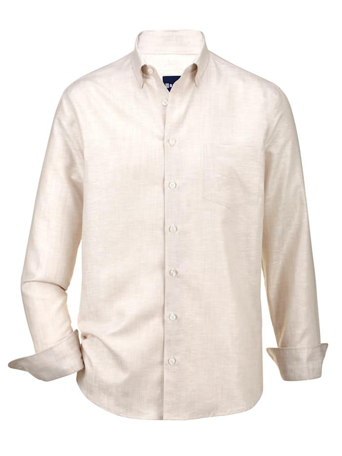 Babista Premium Leinenhemd mit Stretch-Effekt, Natur
