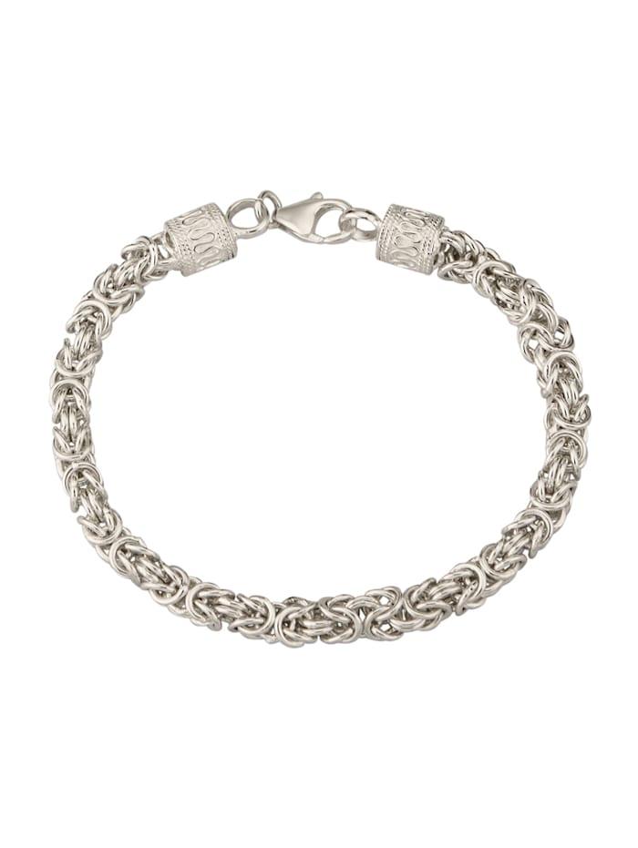 Amara Tendance Bracelet maille royale en argent, Coloris argent