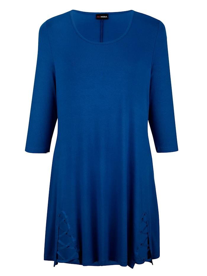 MIAMODA Longshirt Met bandje aan de mouwen, Royal blue