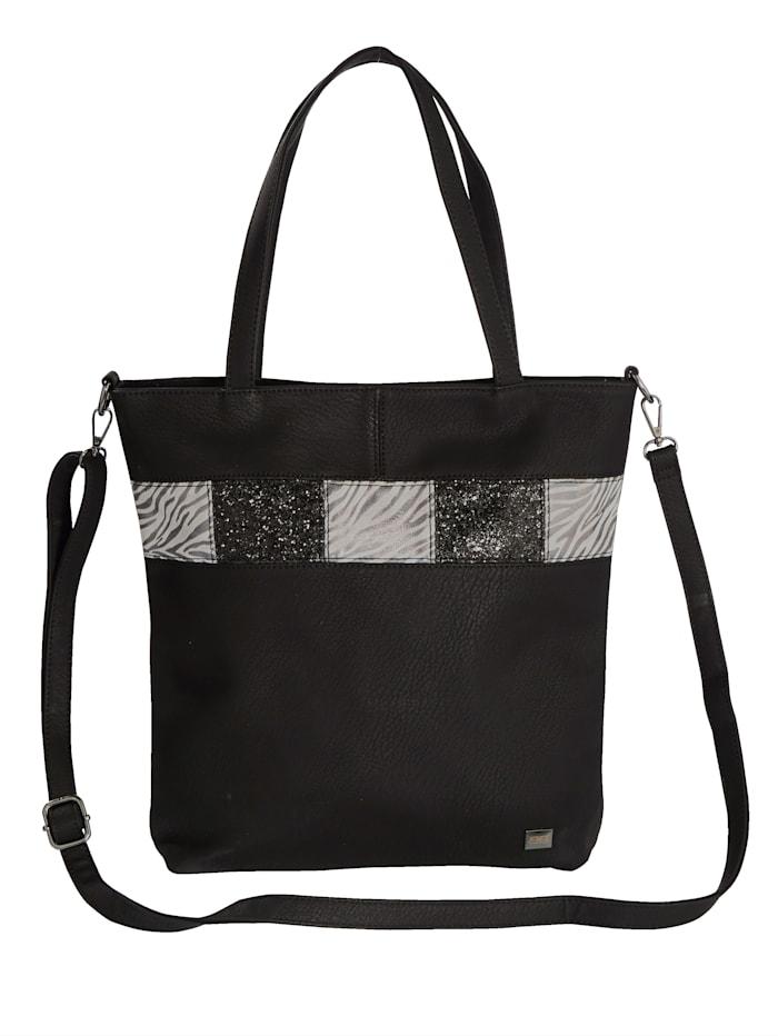 BERNARDO BOSSI Väska med glittrande effekter, Svart