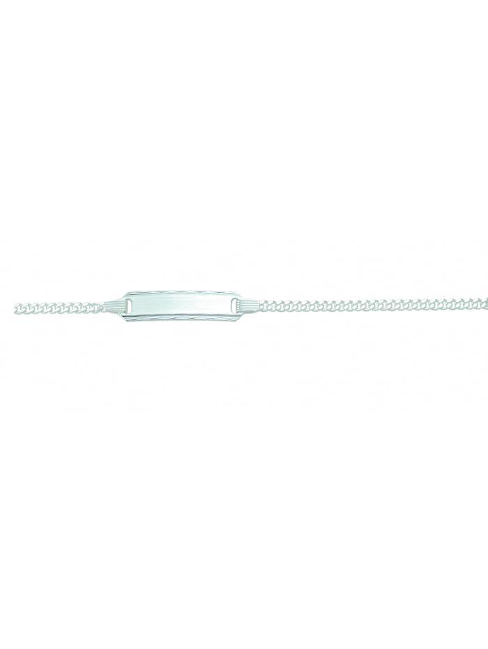 1001 Diamonds Damen Silberschmuck 925 Silber Flach Panzer Armband 14 cm Ø 1,8 mm, silber