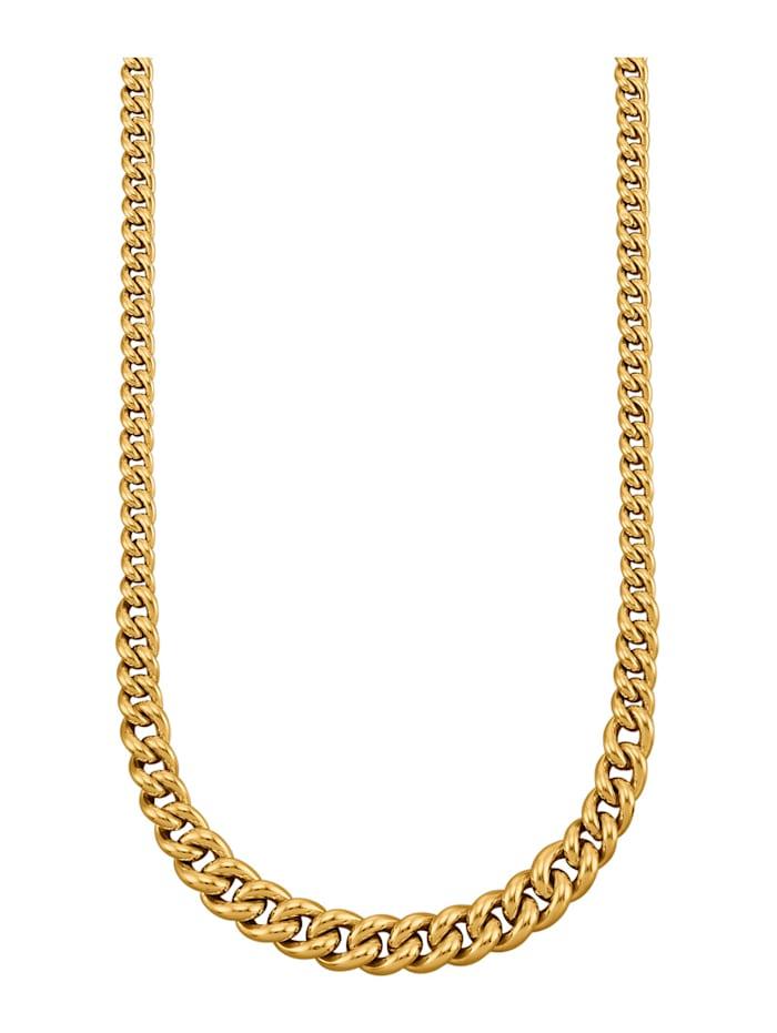 Diemer Gold Halsband i pansarlänk, Guldfärgad
