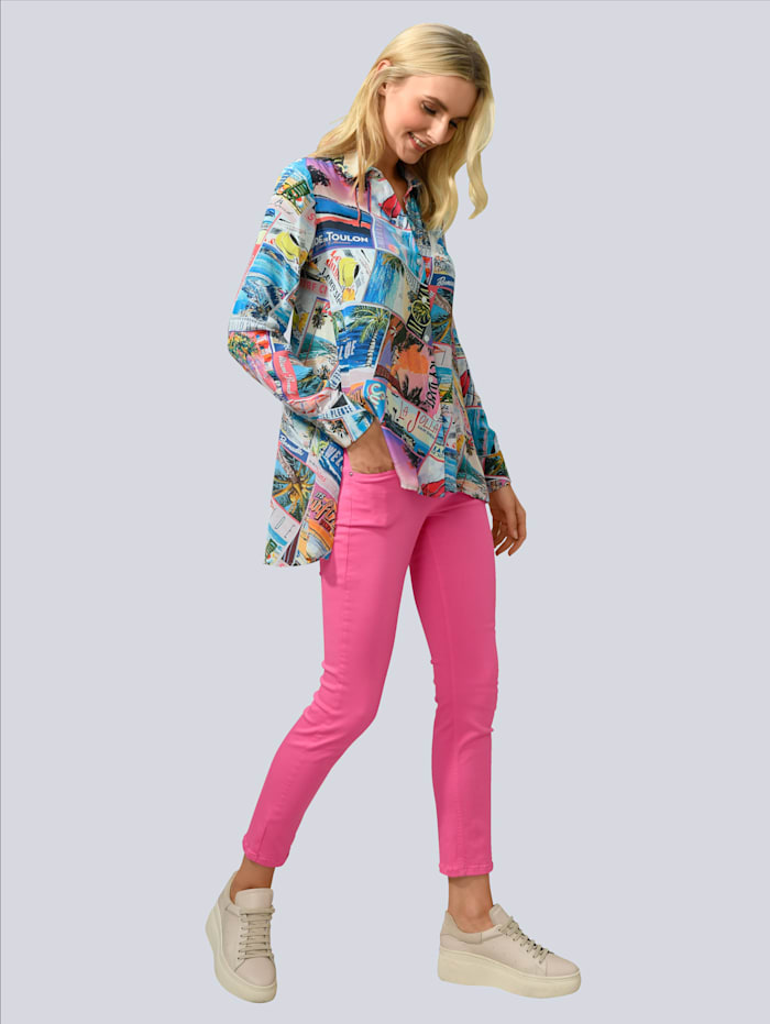 CAMBIO Hose in kombinierfreundlicher Farbstellung, Pink