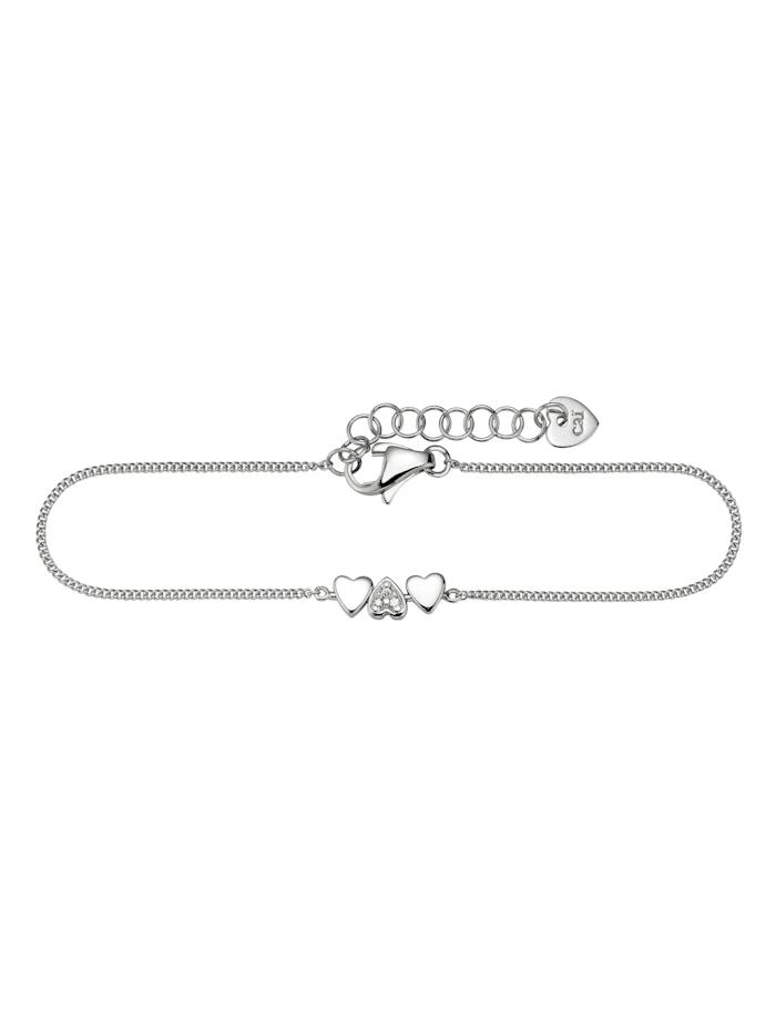 CAI Armband 925/- Sterling Silber Zirkonia weiß 15cm Glänzend, weiß