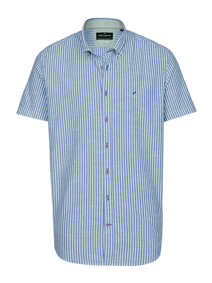 Daniel Hechter Sommerliches Kurzarm-Hemd mit modischen Streifen, navy