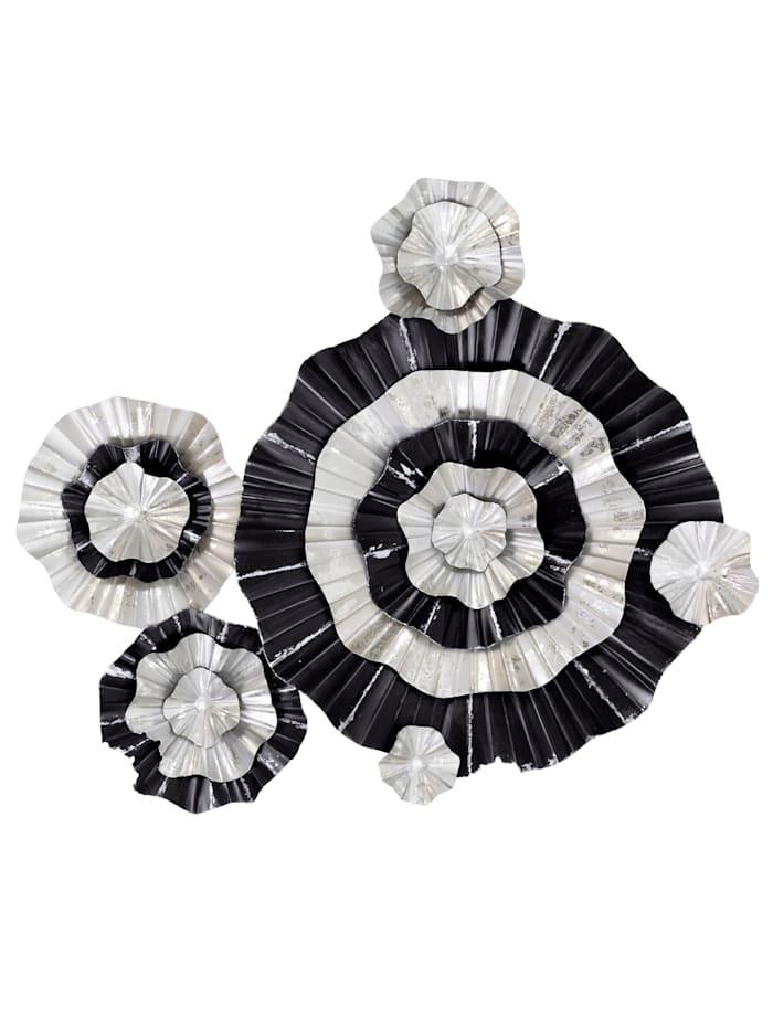 MARAVILLA Wand-Deko, silberfarben/schwarz