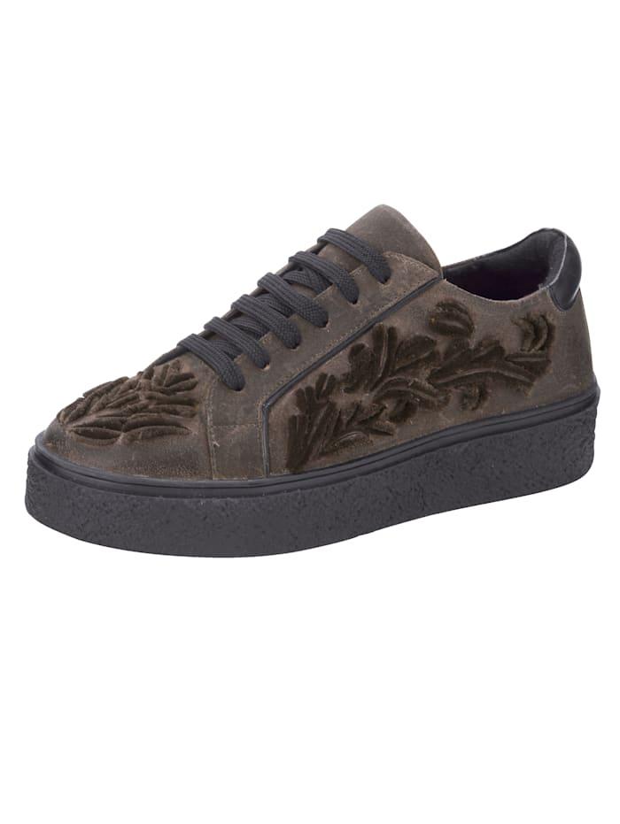 ROCKGEWITTER Sneakers à plateau d'aspect usé, Taupe