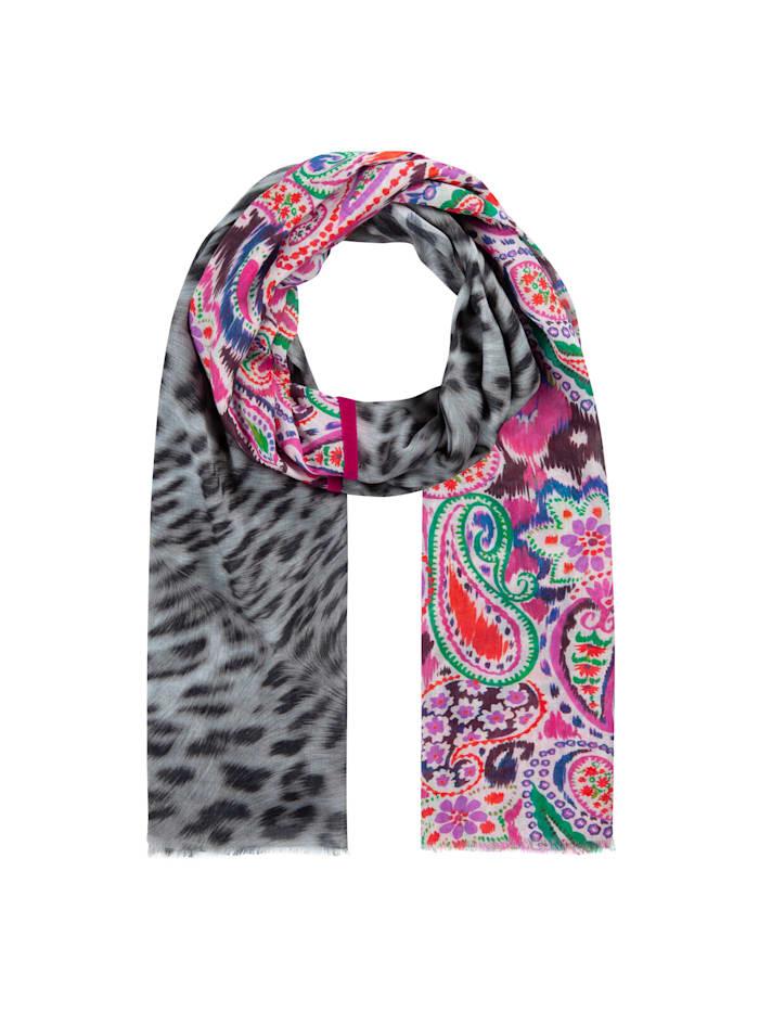 Codello Mustermix-Schal aus Baumwolle und Modal, dark pink