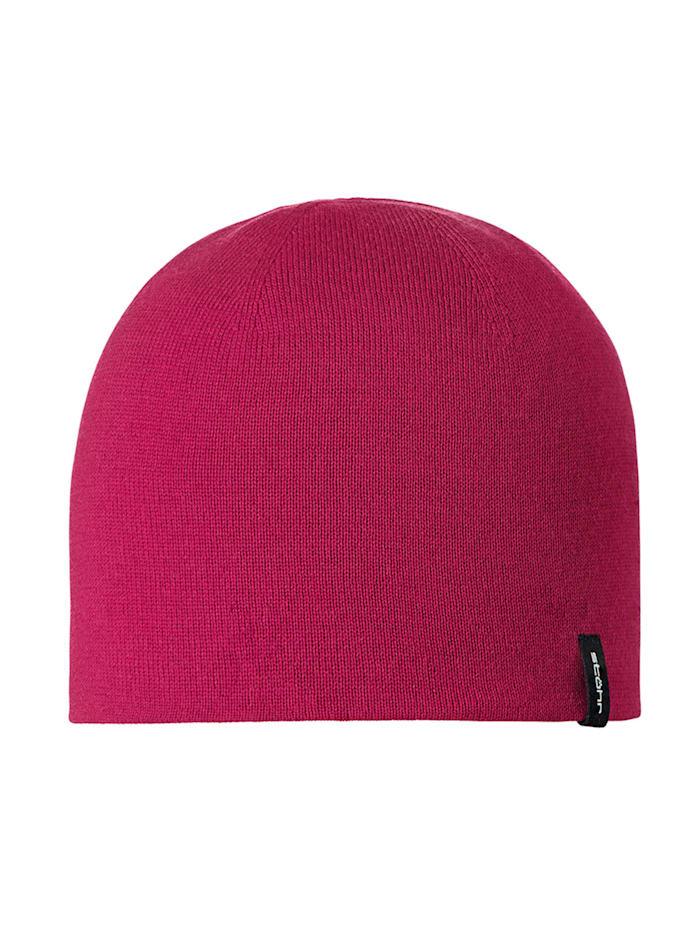 Stöhr GIZZ - Feinstrickmütze aus reiner Wolle, pink