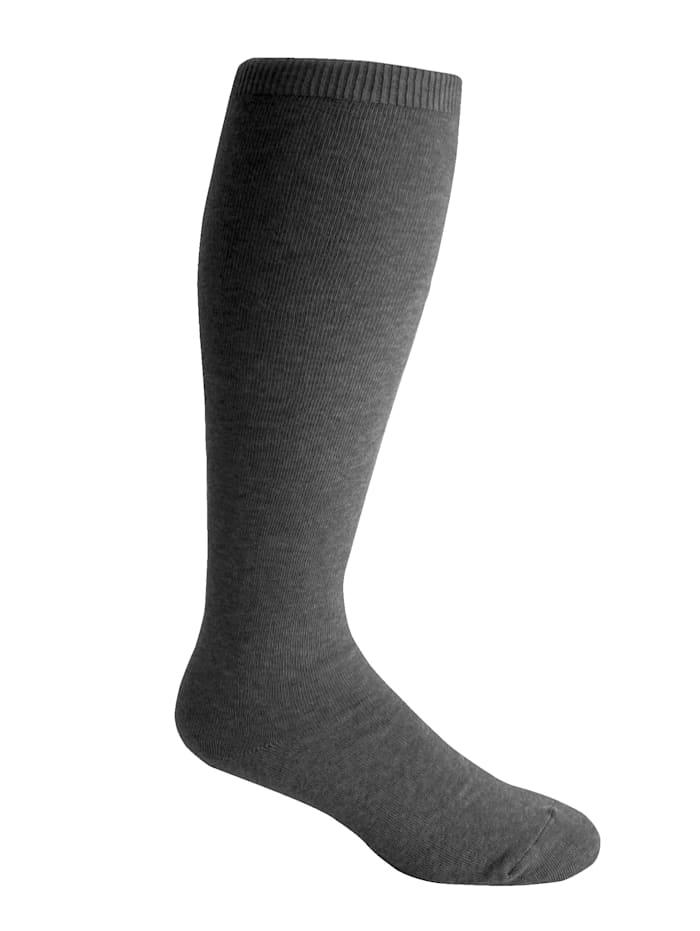 H&B Strumpf XXL-comfortkniekousen van elastisch materiaal, Antraciet