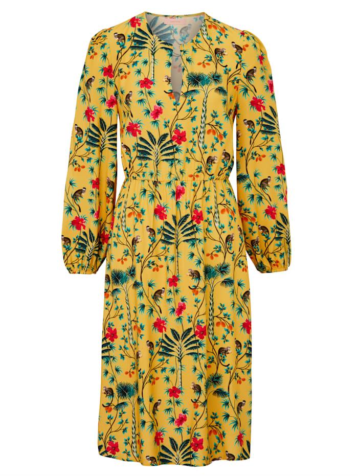 SIENNA Kleid mit floralem Muster, Vanille