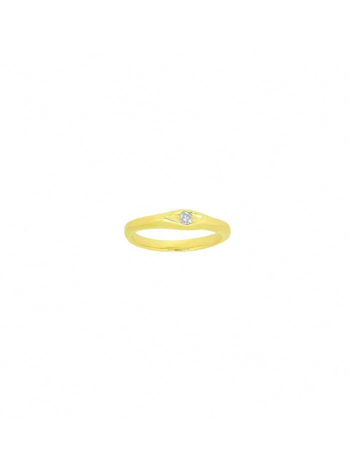 1001 Diamonds Damen Goldschmuck 585 Gold Anhänger Taufring mit Diamant Ø 10,1 mm, gold